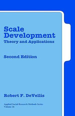 Scale Development : Theory and Applications - Robert F. DeVellis
