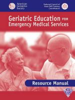 Geriatric Education for EMS : Review Manual - American Geriatrics Society