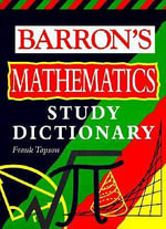 Barron's Math Study Dictionary - Frank TAPSON