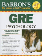 Barron's GRE Psychology : Graduate Record Examination in Psychology - Edward L Palmer
