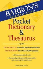 Barron's Pocket Dictionary and Thesaurus - Robert Allen
