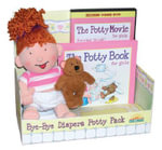 The Potty Book with DVD and Doll Package for Girls : Hannah Edition - Alyssa Satin Capucilli
