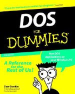 DOS For Dummies, 3rd Edition - Dan Gookin