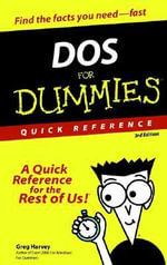 DOS For Dummies Quick Reference, 3rd Edition - Greg Harvey