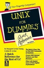 UNIX For Dummies : Quick Reference, 4th Edition :  Quick Reference, 4th Edition - Margaret Levine Young