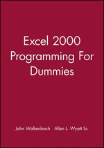 Excel 2000 Programming For Dummies :  Quick Reference  - John Walkenbach