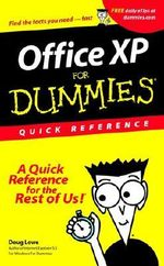 Office XP For Dummies : Quick Reference :  Quick Reference - Doug Lowe