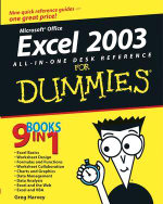 Excel 2003 All-In-One Desk Reference For Dummies - Greg Harvey