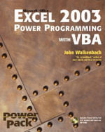 Excel 2003 Power Programming with VBA : Bible - John Walkenbach