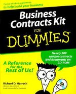 Business Contracts Kit For Dummies - Richard  Harroch