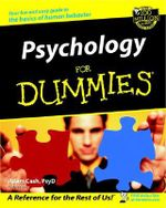 Psychology For Dummies : 2nd Edition with CD - Adam Cash