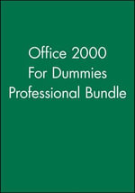 For Dummies Office 2000, Professional Bundle - Consumer Dummies