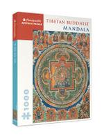 Tibetan Buddhist Mandala : Pomegranate Artpiece Puzzle - Pomegranate