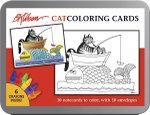 B. Kilban : Cat Coloring Cards - Pomegranate Communications Inc