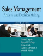 Sales Management : Analysis and Decision Making - Thomas N. Ingram