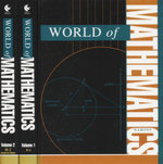World of Mathematics : 2 x Hardcover Books, Volumes 1-2