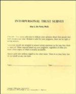 Interpersonal Trust Surveys - Guy L. De Furia