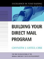 Building Your Direct Mail Program : Workbook - Gwyneth J. Lister