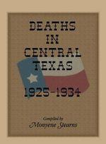 Deaths in Central Texas, 1925-1934 - Monyene Stearns