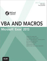 Excel 2013 VBA and Macros : MrExcel Library - Bill Jelen