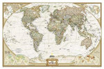 The World : Includes Coastline & Battlefields - National Geographic Maps