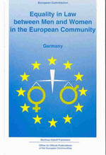Equality in Law Between Men and Women in the European Community : Germany - Klaus Bertelsmann