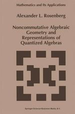 Noncommutative Algebraic Geometry and Representations of Quantized Algebras : Boston Studies in the Philosophy of Science (Hardcover) - Alexander L. Rosenberg