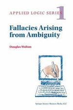 Fallacies Arising from Ambiguity : Monographiae Biologicae - Douglas N. Walton