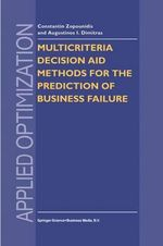 Multicriteria Decision Aid Methods for the Prediction of Business Failure : Applied Optimization - Constantin Zopounidis
