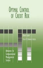 Optimal Control of Credit Risk - Didier Cossin