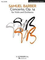 Concerto, Op. 14 : Study Score - Barber Samuel