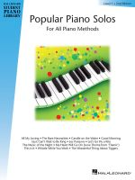 Popular Piano Solos - Level 1 : Hal Leonard Student Piano Library - And Jeff Schroedl Blake