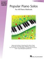 Popular Piano Solos, Level 2 : For All Piano Methods - Bill Boyd
