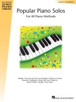 Popular Piano Solos, Level 3 : For All Piano Methods - Bill Boyd