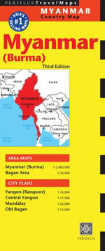 Myanmar Travel Map - Editors of Periplus