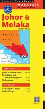 Johor and Melaka Travel Map