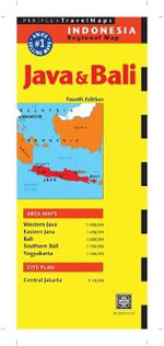 Java and Bali Travel Map - Periplus Editors