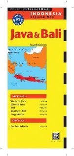 Java and Bali Travel Map : No - Periplus Editors