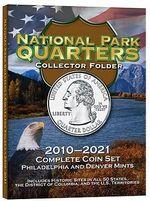 National Park Quarters Collector Folder : 2010-2021 Complete Coin Set, Philadelphia and Denver Mints