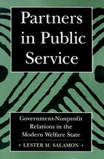 Partners in Public Service : Government-Nonprofit Relations in the Modern Welfare State - Lester M. Salamon