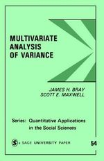 Multivariate Analysis of Variance - James H. Bray