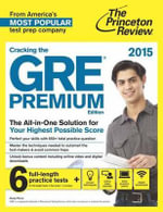 Cracking the GRE with 6 Practice Tests 2018 : 2018 Edition - Princeton Review