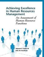 Achieving Excellence in Human Resources Management : An Assessment of Human Resource Functions - Edward E. Lawler