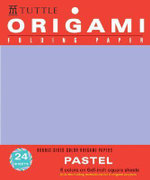 Origami Folding Paper Pastel 6 Colors on 6x6 Square Sheets : Double-sided Color Origami Papers