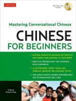 Chinese for Beginners : Mastering Conversational Chinese - Yi Ren