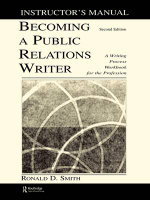 Becoming a Public Relations Writer Instructor's Manual : A Writing Process Workbook for the Profession - Ronald D. Smith