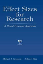 Effect Sizes for Research : A Broad Practical Approach - Robert J. Grissom