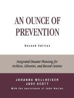 An Ounce of Prevention : Integrated Disaster Planning for Archives, Libraries and Record Centers - John Barton
