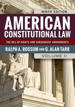 American Constitutional Law : V. II - Ralph A. Rossum