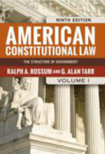 American Constitutional Law : Policymakers in the Federal System - Ralph A. Rossum
